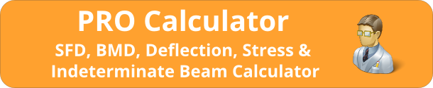 PRO Calculator (SFD, BMD, Deflection, Stress, Indeterminate Beams)